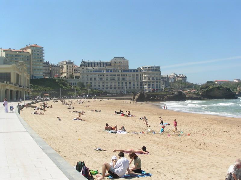 biarritz strand. Black Bedroom Furniture Sets. Home Design Ideas