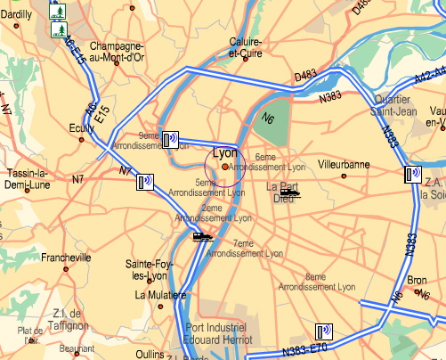 Lyon Karte.Lyon Karte