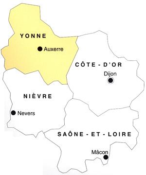 Burgund departement yonne for Region yonne
